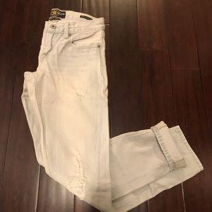 Distressed Lucky Brand sienna slim boyfriend jeans